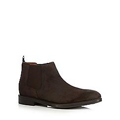 Clarks - Dark brown suede 'Chilver Top' Chelsea boots