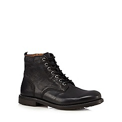 Clarks - Black 'Faulkner' leather boots