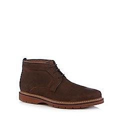 Clarks - Dark brown leather 'Newkirk' boots