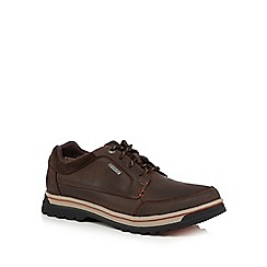 Clarks - Dark brown 'Ripway Path' casual shoes