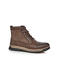 Clarks - Brown leather 'Ripway Trail' lace up boots