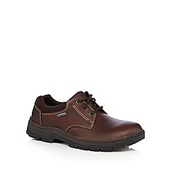 Clarks - Dark brown 'Stanten' lace up shoes