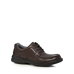 Clarks - Brown leather 'Keeler Walk' shoes