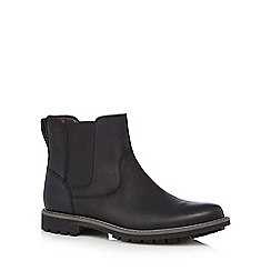 Clarks - Black 'Montacute' leather Chelsea boots