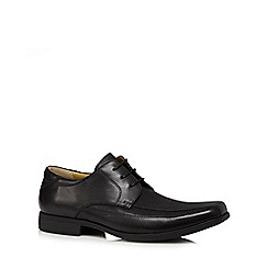 Steptronic - Black leather Derby shoes