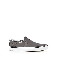 Vans - Grey 'Asher' canvas slip-on trainers