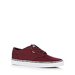 Vans - Dark red 'Atwood' canvas trainers