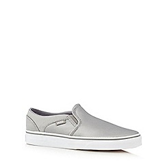 Vans - Silver metallic 'Asher' slip-on shoes