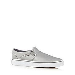 Vans - Silver metallic 'Asher' slip-on shoes