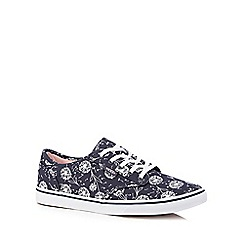 Vans - Navy 'Atwood' dandelion canvas trainers