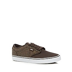 Vans - Brown 'Atwood' mixed material trainers