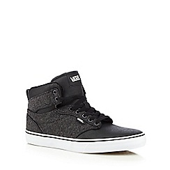 Vans - Black high top 'Atwood' trainers