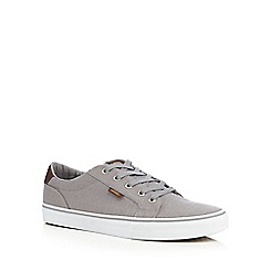 Vans - Big and tall grey 'bishop' canvas lace up shoes