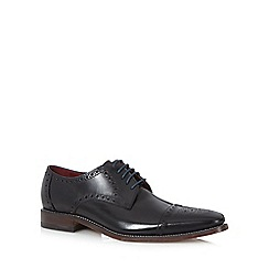 Loake - Big and tall black leather lace up brogues