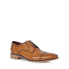Loake - Big and tall tan leather lace up brogues