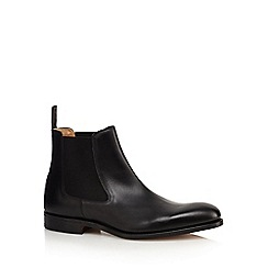 Loake - Big and tall black 'petworth' leather chelsea boots