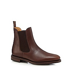 Loake - Big and tall brown 'blenheim'  leather chelsea boots