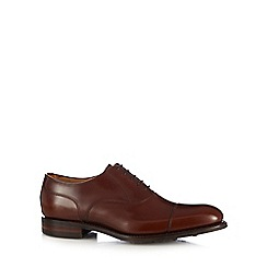 Loake - Big and tall tan '806t' leather oxford shoes