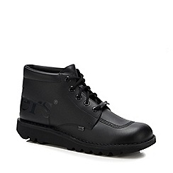Loake - Big and tall black leather lace up oxford shoes