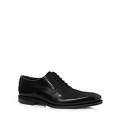 Loake - Black leather lace up shoes