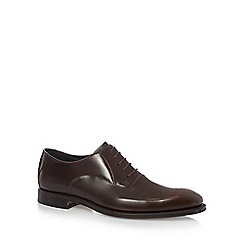 Loake - Big and tall dark brown leather lace up shoes