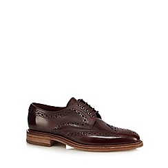 Loake - Big and tall plum leather brogues