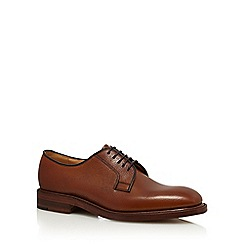 Loake - Big and tall brown leather derby shoes