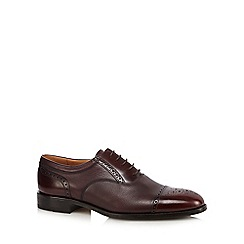 Loake - Big and tall tan leather lace up oxford shoes