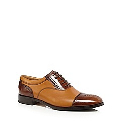 Loake - Big and tall plum leather lace up oxford shoes
