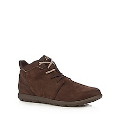 Caterpillar - Dark brown leather 'Transcend' ankle boots