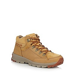 Caterpillar - Beige leather 'Interact' hiking boots