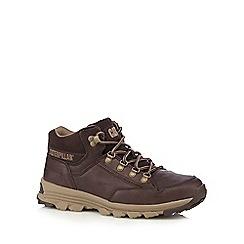 Caterpillar - Dark brown leather 'Interact' hiking boots