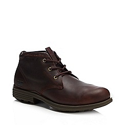 Caterpillar - Dark brown leather chukka boot
