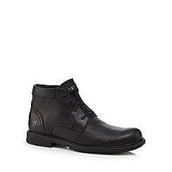 Caterpillar - Black leather 'Brock' Chukka boots