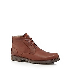 Caterpillar - Brown leather 'Brock' Chukka boots