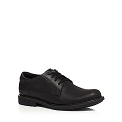 Caterpillar - Black leather 'Cason' lace up shoes