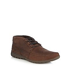 Caterpillar - Dark brown leather 'Kelton' leather Chukka boots