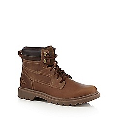 Caterpillar - Brown leather lace up boots