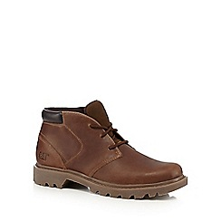 Caterpillar - Brown leather chukka boots