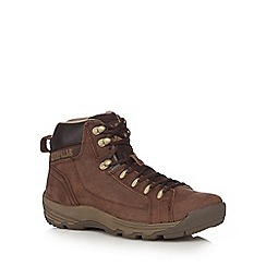 Caterpillar - Brown leather 'Superside' boots