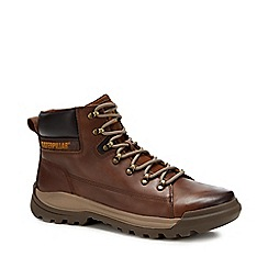 Caterpillar - Brown leather 'Utilize' trainers