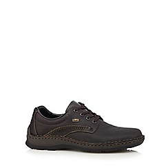 Rieker - Dark brown leather lace up shoes
