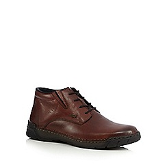 Rieker - Brown shower proof leather Chukka boots