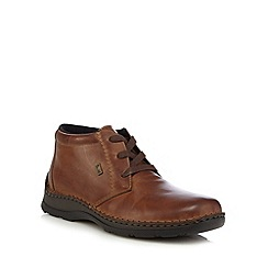 Rieker - Brown leather apron boots