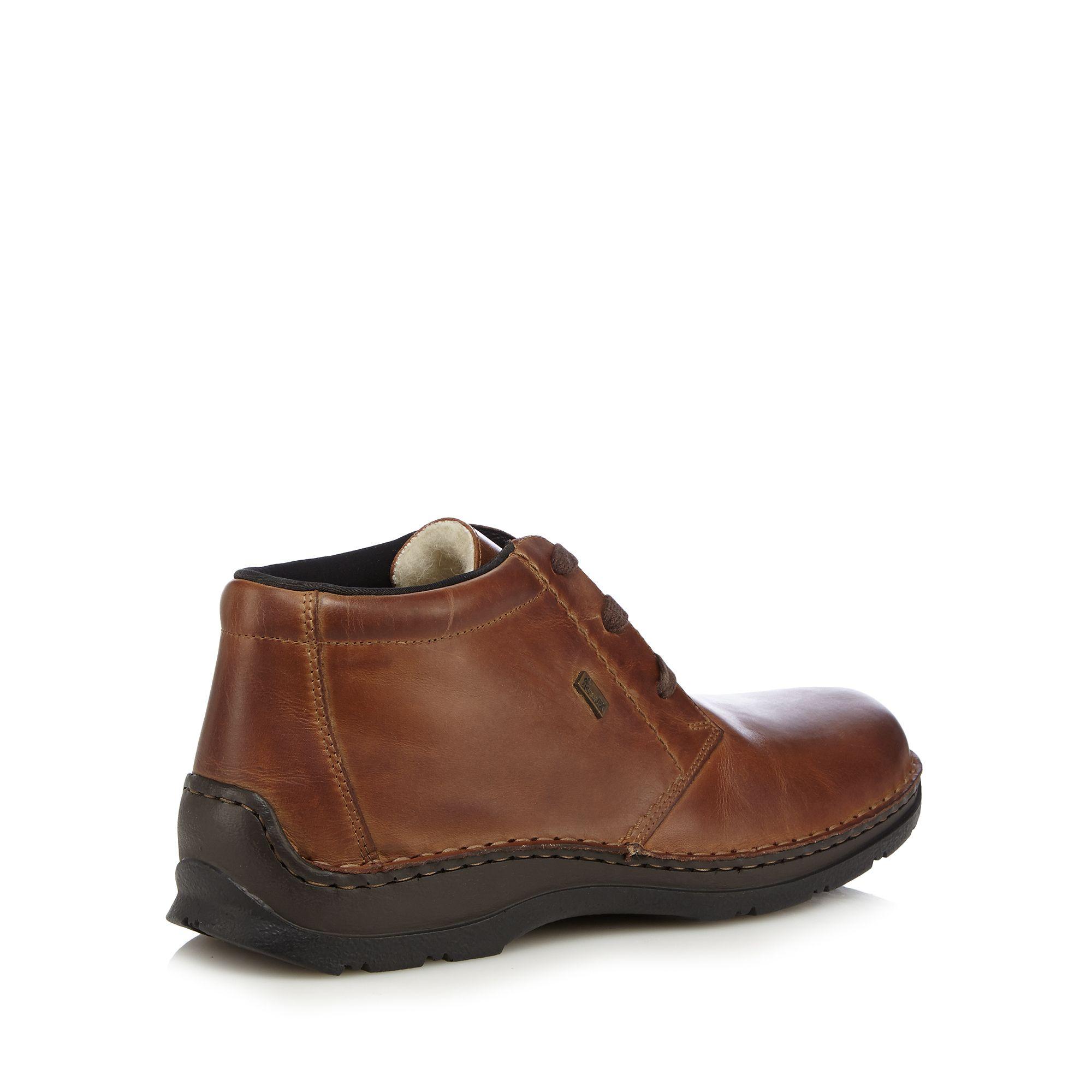 rieker mens brown leather apron boots from debenhams ebay