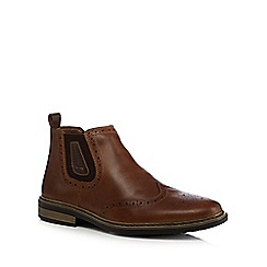 Rieker - Brown brogue Chelsea boots