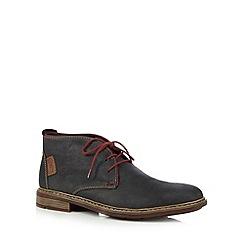 Rieker - Navy leather chukka boots