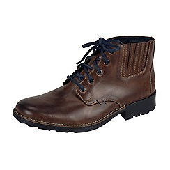 Rieker - Brown lace up chukka boots