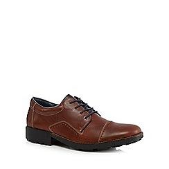 Rieker - Big and tall dark brown toe cap brogue boots