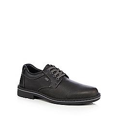 Rieker - Dark brown leather blend shower proof shoes